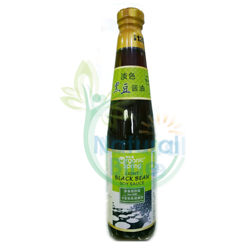 Organic Spring Light Black Bean Soy Sauce </BR>有机泉淡色黑豆醬油